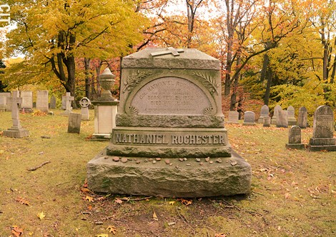 Nathaniel Rochester's grave. - PHOTO BY LARISSA COE
