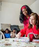 Parent Brenda Coleman (left) is just beginning to work with Parents as Advocates. - PHOTO BY MARK CHAMBERLIN