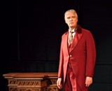 "PHOTO BY ANNETTE DRAGON - Peter Doyle performs as Oscar Wilde in the one-man play ""Diversions and Delights"" at MuCCC."