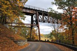 PHOTO COURTESY THE LANDMARK SOCIETY OF WESTERN NEW YORK - Preserve or replace Letchworth's railroad bridge? The state must decide.