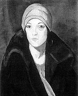 "Pretty in mink: Kathleen McEnery's ""Woman in a Turban,"" 1925."