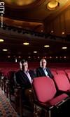 RBTL board chair Arnie Rothschild (left) and promoter Albert Noccolino inside the Auditorium Theatre.