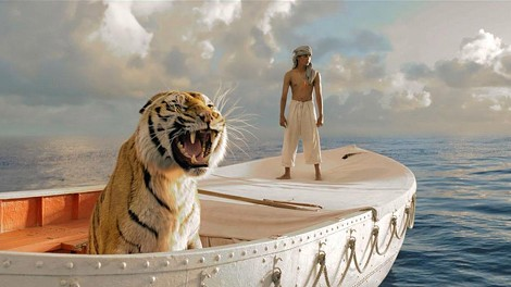 "Richard Parker and Suraj Sharma in ""Life of Pi."" - PHOTO COURTESY 20TH CENTURY FOX"