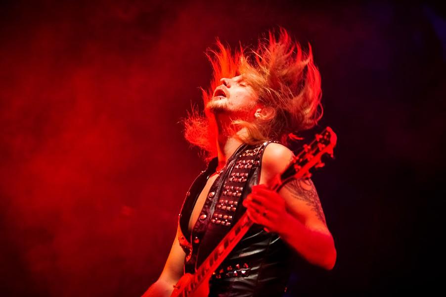 Richie Faulkner, guitarist for Judas Priest. - PHOTO BY JEFF GEREW