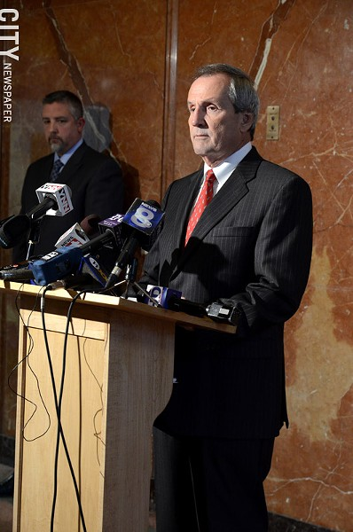 Robert Wiesner defended himself against allegations of bid-rigging at a press conference last week. - PHOTO BY LARISSA COE