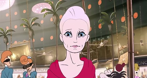 """Robin Wright as … and animated Robin Wright in """"The Congress."""" - PHOTO COURTESY DRAFTHOUSE FILMS"""