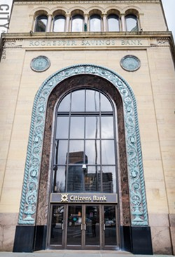 Rochester Institute of Technology plans to renovate the Rochester Savings Bank building for its Center for Urban Entrepreneurship. In 2013, the project received a $1 million award through the Finger Lakes Regional Economic Development Council. - FILE PHOTO