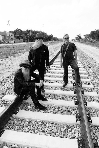 Rock trio ZZ Top will be bringing the beards, and the rock, to Artpark on August 27. - PHOTO BY ROSS HALFIN