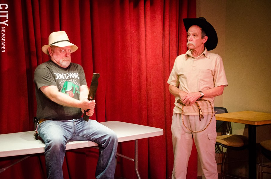 Roger Gans and Jack Simel in The 24-Hour Plays at the Rochester Fringe Festival. - PHOTO BY MARK CHAMBERLIN