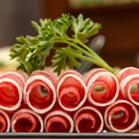 Yummy Garden Hot Pot Rolls of fatty beef. PHOTO BY MARK CHAMBERLIN