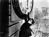 "COURTESY OF THE GEORGE EASTMAN HOUSE - ""Safety Last!"" starring Harold Lloyd."