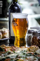 Sam Adams 'Cold Snap' at Cinelli's Pizza Ristorante. - PHOTO BY MARK CHAMBERLIN
