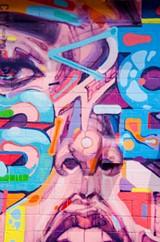 Sam Rodriguez's work at 40 Greenleaf Street. - PHOTO BY MARK CHAMBERLIN