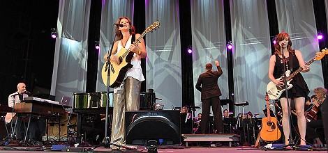 Sarah McLachlan on stage with the RPO, on June 26 at CMAC. PHOTO BY PALOMA CAPANNA