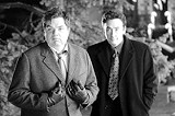 "FOCUS FEATURES - Scene stealer: Oliver Platt and John - Cusack in ""The Ice Harvest."""