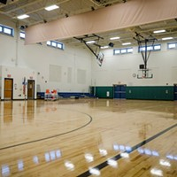RCSD Facilities Modernization School 50's new gymnasium. PHOTO BY MARK CHAMBERLIN