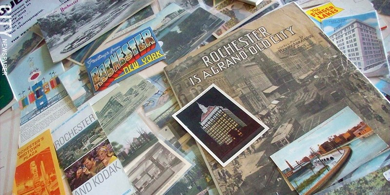 Local Memorabilia Selections from Jim Malley's Rochester ephemera collection. PHOTO BY KATHERINE STATHIS