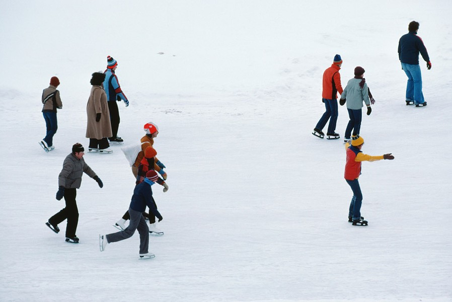 Several area skating rinks have open skates, including the outdoor space at Manhattan Square Park. - FILE PHOTO