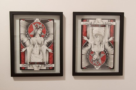 "Shawnee Hill's devil-themed diptych for 1975 Gallery's ""Devil's in the Details"" anniversary group show. - PHOTO PROVIDED"