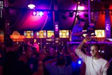 PHOTO BY WILLIE CLARK - A shot of the Silent Disco on Saturday, September 21, inside the Spiegeltent.