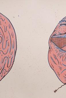 Silkscreened illustration by Rochester-based artist Mike Turzanski.
