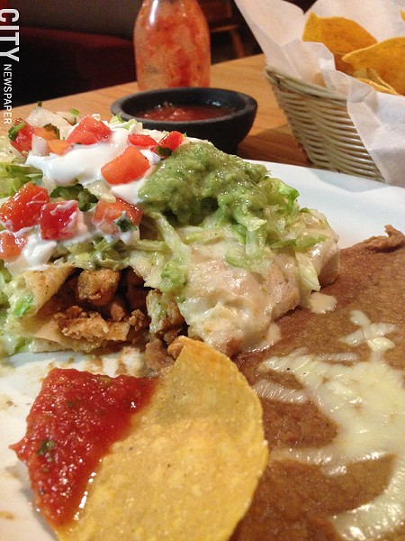 Soft chimichangas at Agave in Henrietta. - PHOTO BY MATT DETURCK