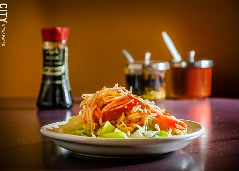 Som Tom (Spicy Papaya Salad) from Esan Thai. - PHOTO BY MARK CHAMBERLIN