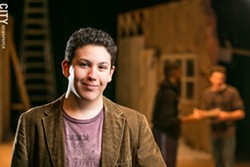 """Spencer Christiano, an alum of Aquinas Institute and SUNY Brockport, is the author of """"The Rochester Plays,"""" as well as an artist-in-residence at MuCCC. - PHOTO BY MIKE HANLON"""