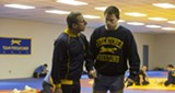 "PHOTO COURTESY SONY PICTURES CLASSICS - Steve Carell and Channing Tatum in ""Foxcatcher."""