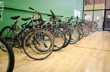 PHOTO BY MARK CHAMBERLIN - Students, faculty, and staff can use Nazareth College's bike-sharing service, Bikes@Naz.