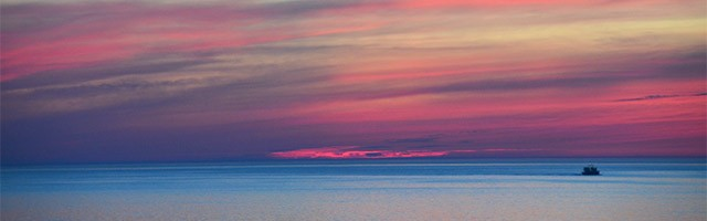 Sunset over Lake Ontario.