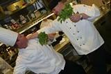 PHOTO BY MATT WALSH - Tastings chefs duke it out for their favorite cress: Russell Ferguson (left) and Matt Hudson.