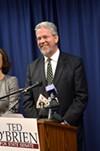 Democrat Ted O'Brien won his state Senate race.