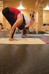 Temperatures at Bikram Yoga Rochester reach 110 degrees, with 40 percent to 50 percent humidity.