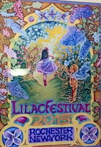 The 2015 Lilac Festival poster, by artist Diane Elmslie.