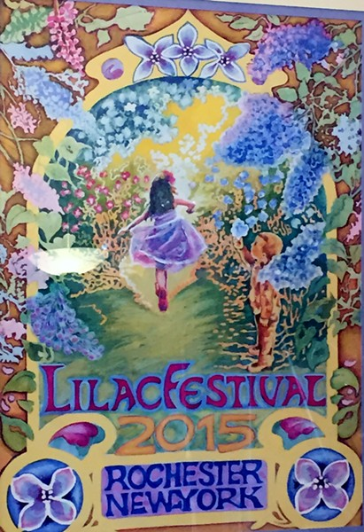 The 2015 Lilac Festival poster, by artist Diane Elmslie.