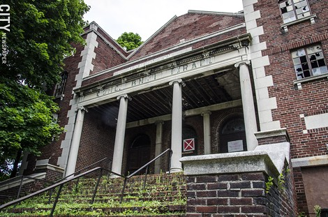 The business association plans to turn the abandoned synagogue at 692 Joseph Avenue into a museum of history and religion. - PHOTO BY MARK CHAMBERLIN