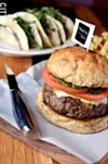 The caprese burger at TRATA.