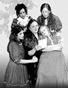 "The cast of Blackfriars' ""Little Women"""