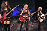 """PHOTO PROVIDED - The cast of """"MoM: A Rock Concert Musical,"""" currently on stage at Geva Theatre."""