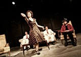 """PHOTO BY ANNETTE DRAGON - The cast of """"The Bald Soprano,"""" one of two one-acts currently at MuCCC."""