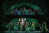 "PHOTO COURTESY JOAN MARCUS - The cast of ""Wicked,"" currently on stage at the Auditorium Theatre through April 21."