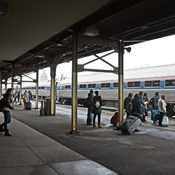 The Central Avenue train station was not meant to be permanent. - FILE PHOTO