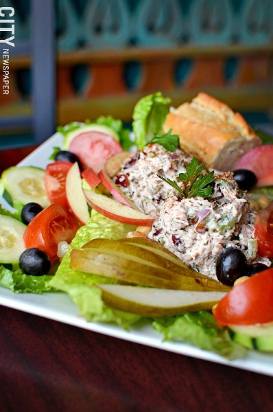 The chicken salad plate from Acanthus Cafe. - PHOTO BY MATT DETURCK