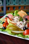 The chicken salad plate from Acanthus Cafe.