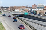 PHOTO BY MARK CHAMBERLIN - The City of Rochester plans to fill in under a mile of the Inner Loop between Monroe Avenue and Charlotte Street.