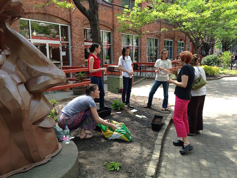 "The ""Container and Urban Organic Gardening"" class at Rochester Brainery. - PHOTO PROVIDED"