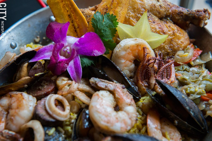 The Cuban Harvest Paella at Havana Cabana. - PHOTO BY THOMAS J. DOOLEY