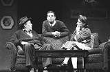 PHOTO BY KEN A. HUTH - The end of the story: David Silberman, Dennis Staroselsky, and Lori Wilner in Broadway Bound.