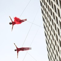 SPECIAL EVENT: Bandaloop/Friday on the Fringe The fan-favorite headliners from last year's inaugural Fringe Fest return for another performance on the side of One HSBC Plaza. Check out the aerial dance troupe's FREE performance at 8 p.m. Manhattan Square Park (the best vantage point for the show) will also have food and beer for sale and other live entertainment 5-9 p.m. as part of Friday on the Fringe. (Bandaloop also performs Saturday, September 21, 4 p.m.) PHOTO PROVIDED